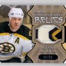 Glenn Murray Diamond Mine Patch SP 2015-16 UD Black Diamond #DMGM Bruins 20/75