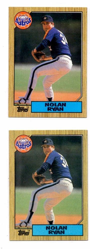 Nolan Ryan Trading Card Lot of (2) 1987 Topps #757 Astros