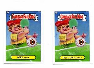 Joel Hole Peyton Paddle Lot of (2) 2013 Topps Garbage Pail Kids MIni #119a #119b