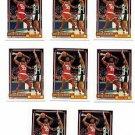Otis Thrope Trading Card Lot of (6) 1992-93 Topps #19 Rockets