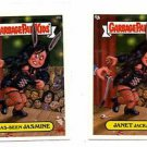 Janet Jackass Has Been Jasmine A&B Lot 2004 Topps Garbage Pail Kids #40a #40b