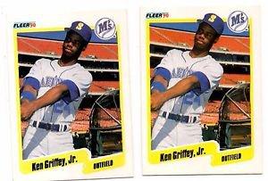 Ken Griffey Jr Trading Card Lot of (2) 1990 Fleer #513 Mariners