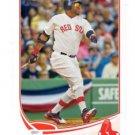 David Ortiz Trading Card SIngle 2013 Topps #595 Red Sox