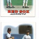Red Sox Team Leaders Trading Card  Lot of (2) 1988 Topps #21 Red Sox