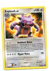 Exploud Rare Trading Card Pokemon EX Crystal Guardians 17/106 x1