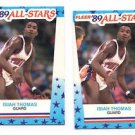 Isiah Thomas Trading Card Lot of (2) 1989 Topps All Star Sticker #6 Pistons