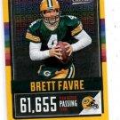 Brett Favre Gold Record Breakers Trading Card 2017 Classics #24 Packers