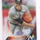 Jose Fernandez Trading Card Single 2016 Topps Opening Day #OD191 Marlins