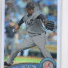 Rafael Soriano Refractor Trading Card 2011 Topps Chrome #36 Yankees