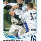 Francisco Cervelli Trading Card Single 2013 Topps #552 Yankees