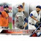 Dallas Keuchel Collin McGhugh David Price Trading Card 2016 Topps #187