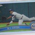 BJ Upton Refractors Trading Card Single 2011 Topps Chrome #123 Rays