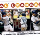 Magglio Ordonez Ichiro Placido Polanco LL Trading Card Single 2008 Topps #15