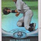 Alex Rodriguez Trading Card Single 2011 Bowman Platinum #90 Yankees