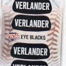 Justin Verlander Eye Blacks Sticker Single 2013 Panini Triple Play #8 Tigers