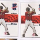 Anthony Rizzo RC Trading Card Lot of (2) 2008 Tristar PROjections #34