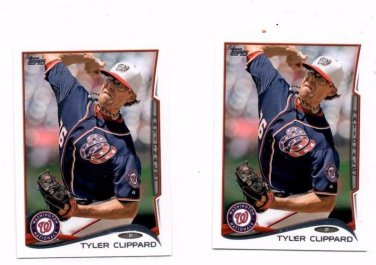 Tyler Clippard Trading Card Lot of (2) 2014 Topps Mini #574 Nationals