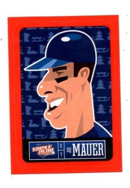 Joe Mauer Red Sticker Trading Card Single 2013 Panini Triple Play 15