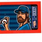 R.A. Dickey Red Sticker Trading Card Single 2013 Panini Triple Play #16