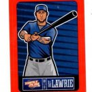 Brett Lawrie Red Sticker Trading Card Single 2013 Panini Triple Play #26