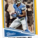 Calvin Johnson Gold Trading Card 2017 Classics #136 Lions