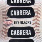 Miguel Cabrera Eye Blacks Sticker Single 2013 Panini Triple Play #6 Tigers