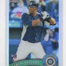 Carlos Peguero Refractor RC Trading Card 2011 Topps Chrome #219 Mariners