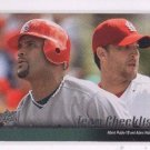 Albert Pujols Adam Wainwright Trading Card Single 2010 Upper Deck #595 Cardinals