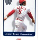 Johnny Bench Trading Card Single 2001 Fleer Greats of the Game #107 Reds