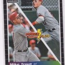 Mike Trout Power Plus Trading Card Single 2014 Donruss #1 Angels