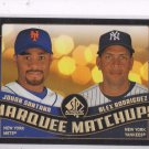 Johan Santana Alex Rodriguez Marquee Matchups 2008 Upper Deck SP Authentic #34