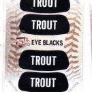 Mike Trout Eye Blacks Sticker Single 2013 Panini Triple Play 2 Angels