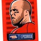 Dustin Pedroia Red Sticker Trading Card Single 2013 Panini Triple Play #3