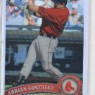 Adrian Gonzalez Refractors Trading Card Single 2011 Topps Chrome #25 Red Sox