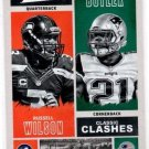 Russell Wilson Malcolm Butler Classic Clashes Trading Card 2017 Classics #CCRWMB