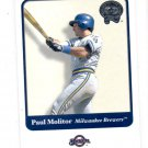 Paul Molitor Trading Card Single 2001 Fleer Greats of the Game #4 Brewers