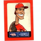 Cole Hamels Red Sticker Trading Card Single 2013 Panini Triple Play #19