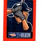 Ryan Braun Red Sticker Trading Card Single 2013 Panini Triple Play #14