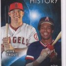 Mike Trout Rod Carew Eclipsing History Trading Card Single 2015 Topps #EH7