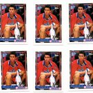 Tom Gugliotta RC Trading Card Lot of (9) 1992-93 Topps #258 Bullets