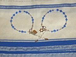 Ten Commandments / Star of David Charm Bracelets