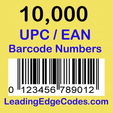 10000 UPC EAN Barcode numbers GS-1 issued - Use on Amazon