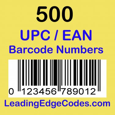 500 UPC EAN Barcode numbers GS-1 issued - Use on Amazon