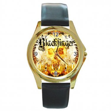 Blackfinger Gold Watch With Leather Band