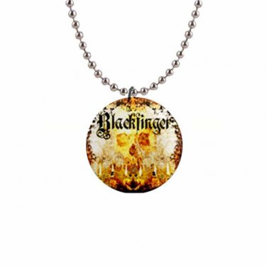 Blackfinger 1 Inch Button Necklace