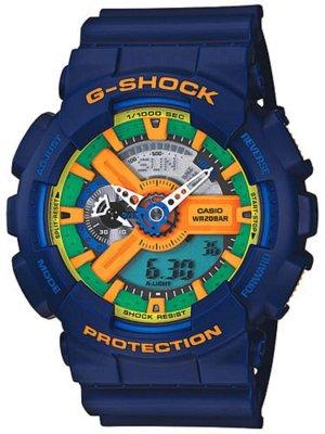 Casio G-Shock GA-110FC-2AJF Crazy Colors Blue Japan NWT Rare!!