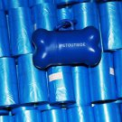 1020 DOG PET WASTE POOP BAGS BLUE REFILL ROLLS with Core plus FREE DISPENSER