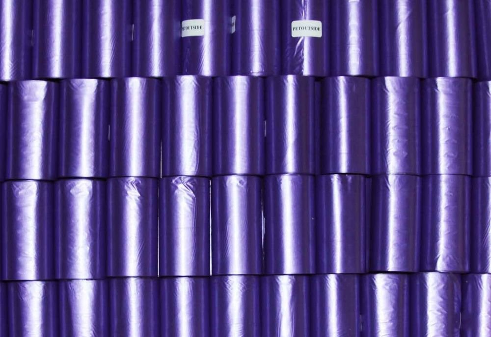 1350 DOG PET WASTE POOP BAGS 90 REFILL ROLLS 13 microns WITH PLASTIC CORE PURPLE