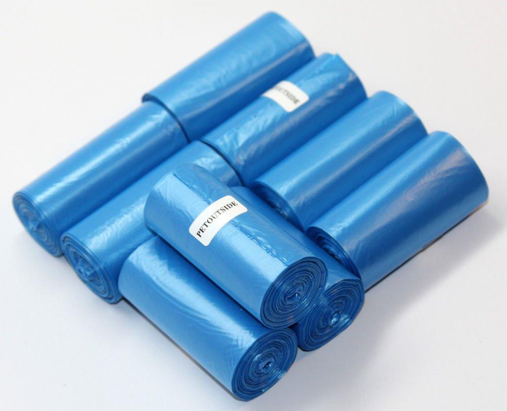 1020 DOG PET WASTE POOP BAGS BLUE 51 REFILL ROLLS CORELESS PLUS DISPENSER FREE
