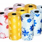 1350 DOG PET WASTE POOP PRINTED COLOR BAGS 90 REFILL ROLLS WITH PLASTIC CORE